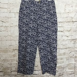 Evan Picone Crop Pant Size 8 Navy Blue